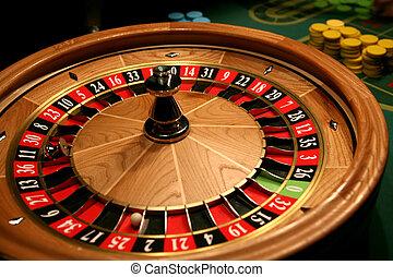 roulett, in, kasino