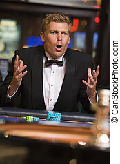 roulett, kasino, verlieren, focus), (selective, spielende , mann