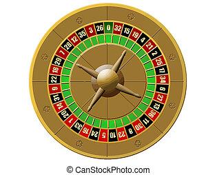 roulett, kasino, weiß, hintergrund