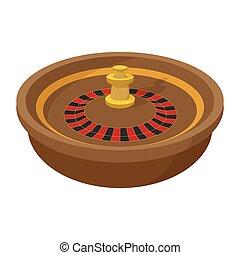 roulett, symbol, kasino, karikatur, ikone