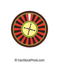roulett, wohnung, symbol, kasino, ikone