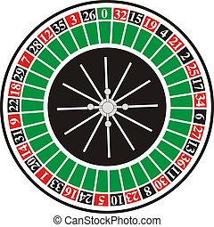 Illustriation casino roulette on white background