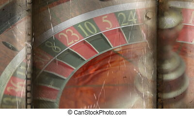Roulette board turning video - Old blurry movie showing ...