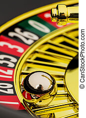 roulette casino gambling - the cylinder of a roulette...