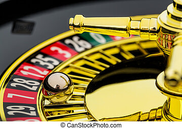 roulette casino gambling - the cylinder of a roulette ...