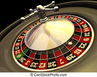 Roulette - Casino golden roulette - rendered in 3d