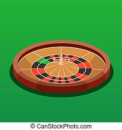 Roulette casino isometric vector illustration