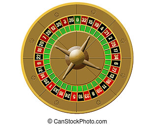 roulette, casino on white background - Vector illustration...