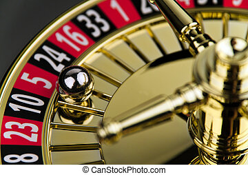 roulette, cilinder, spel, kans