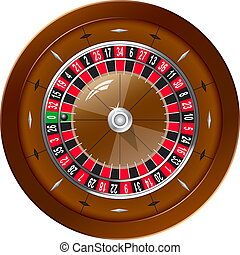 Roulette for online casino, vector EPS10