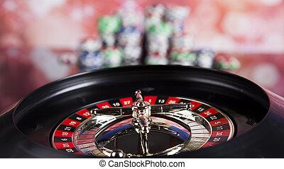 Roulette gambling in a casino