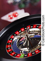 Roulette gambling in a casino