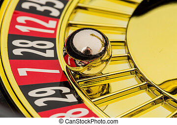 roulette gambling in casino - the cylinder of a roulette...
