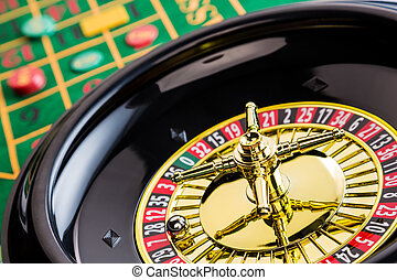 roulette gambling in the casino - the cylinder of a roulette...