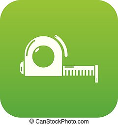 Roulette icon green vector