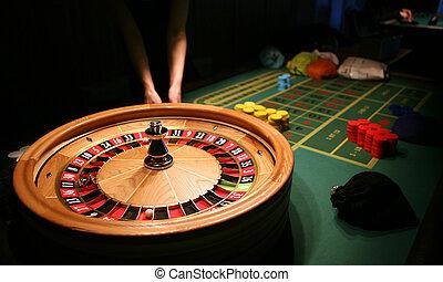 Roulette in casino