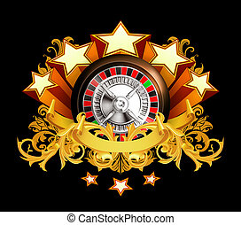Roulette insignia on black, 10eps