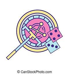 roulette machine dices gamble casino game