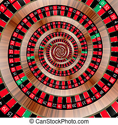 Roulette spiralling down - Spiral with roulette numbers...