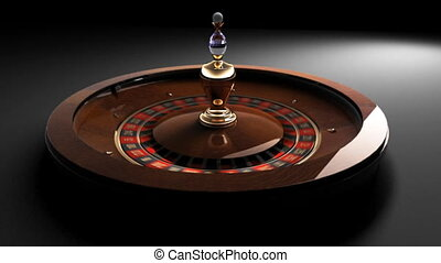 roulette wheel on black backgound