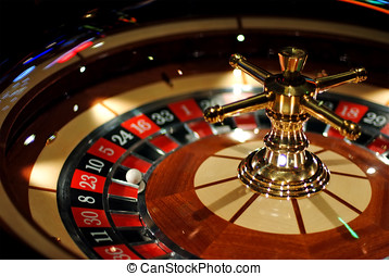 Roulette - Electronic casino roulette , light reflections on...