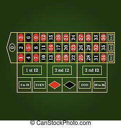 roulette table for gambling illustration