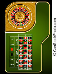 Roulette table layout - European casino roulette table...