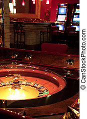 Roulette table - Roulette table. Shot from a session in a...