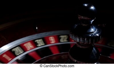 Roulette wheel fast running with white ball - Roulette wheel...