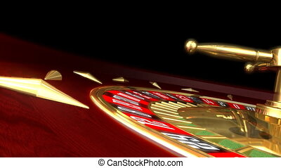 Roulette wheel rotation and moving the ball