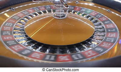 roulette wheel - Roulette wheel in casino