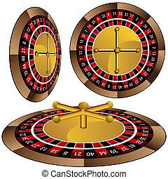 Roulette Wheel Set - An image of a roulette wheel set.