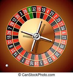 Roulette wheel - Vector illustration of a roulette wheel...