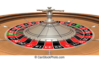 Roulette wheel with the ball, seamlessly loopable - 3D...