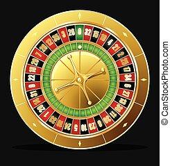 roulette wiel, vector