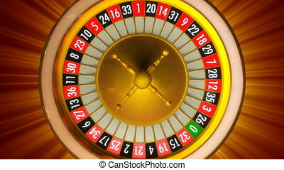 Roulette with rays - 3D animation of casino roulette with ...