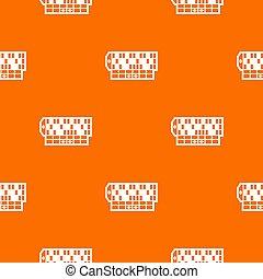 roulettetafel, model, sinaasappel