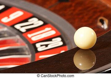 roulettewheel, -, rouletterad