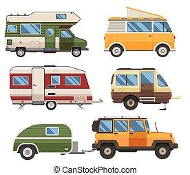 roulotte, caravan, rv, camion
