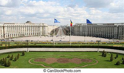 roumaine, palais, vue