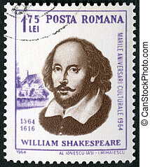 roumanie, -, anniversaire, (1564-1616), william, 400th, naissance, 1964:, spectacles, shakespeare