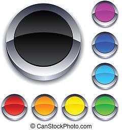 Round 3d buttons.