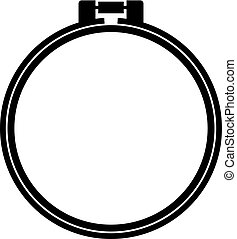 Round adjustable embroidery hoop