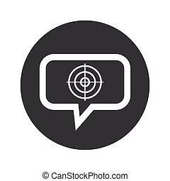 Round aim dialog icon