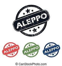 Round Aleppo city stamp set
