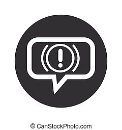 Round alert dialog icon