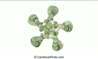 round and circle array swirl flower - round and circle array...