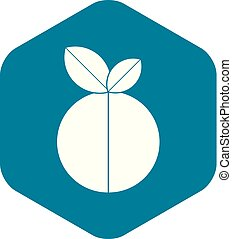 Round apple icon, simple style
