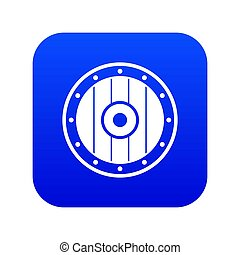 Round army shield icon digital blue