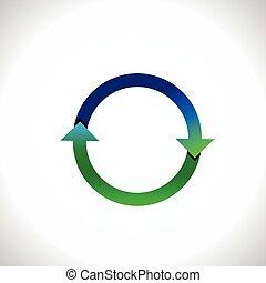 round arrow, circle reload reuse refresh reset loop icon